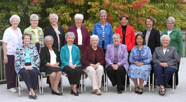 photo of the 2017-2018 Leadership Council for the Adrian Dominican Sisters