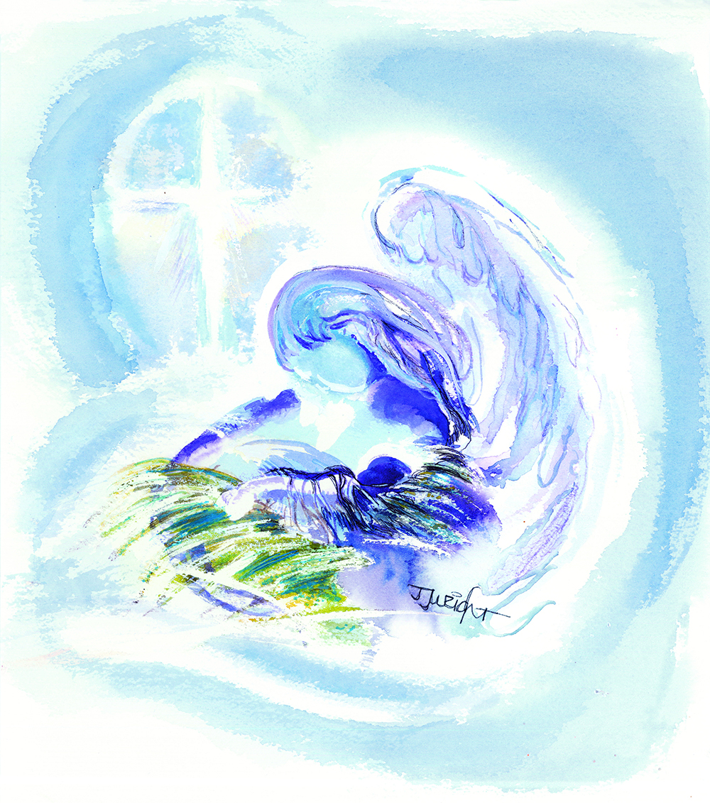 Watercolor by Sister Janet Wright, OP, in honor of Sister Sis Beh, OP