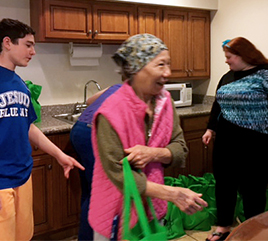Students Work with Peace Center to Distribute Easter Bags to Seniors