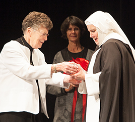 Regina Dominican High School Names Stage in Honor of Sister Nancy Murray