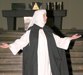 Sister Nancy Murray Portrays Catherine of Siena For Dominican Laity in Ponchatoula, Louisiana