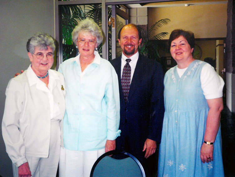 Janet Capone at dedication of the Siena Campus at St. Rose Dominican Hospital, 2000