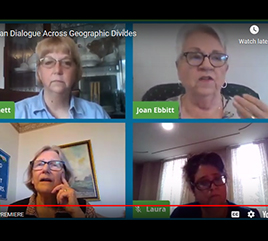 four women on video call