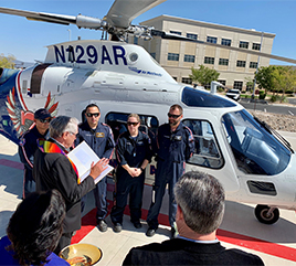 St. Rose Dominican Hospitals Staff Bless First Responders