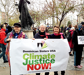 Four Dominican Sisters in Paris Represent US Dominicans Concerned about Climate Change