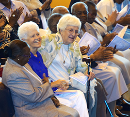 Two Adrian Dominican Sisters Attend 60th Anniversary of Aquinas College
