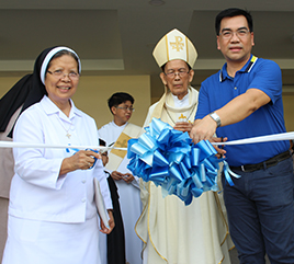 Second Building of Dominican School of Angeles Blessed on Feast of St. Rose of Lima