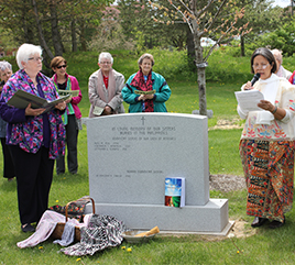 Adrian Dominican Sisters Dedicate Memorial Marker for Filipina Sisters