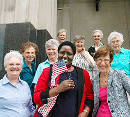 Sister Emmy Choge, OP, Becomes Naturalized U.S. Citizen