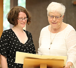 Sister Katherine Frazier, OP, Professes First Vows as an Adrian Dominican Sister