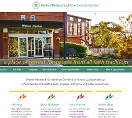Weber Retreat and Conference Center Launches New, Interactive Website