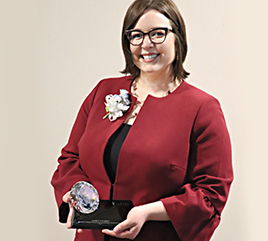 Ashley LaVigne, Social Media Specialist, Receives Athena Young Professional Leadership Award